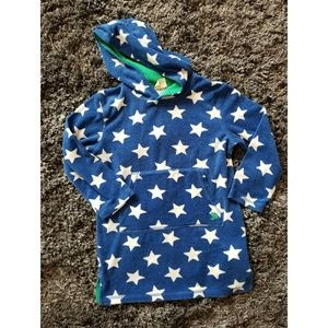 Mini boden star terry cover up & hoodie